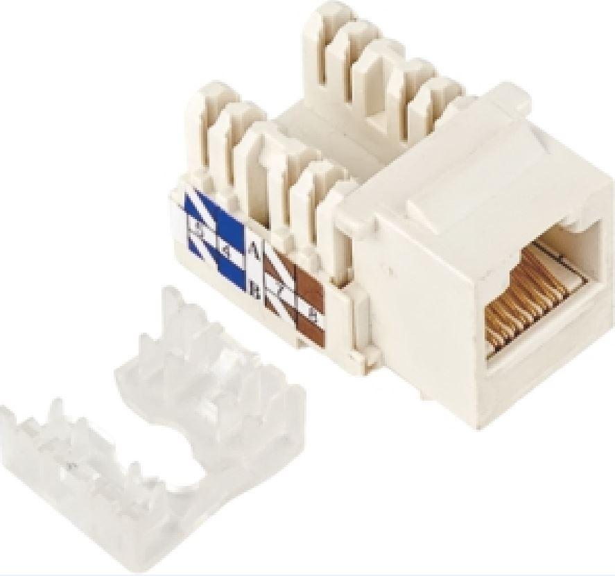 Astrotek CAT5e UTP Network Keystone Jack for Socket kit 10ps per pack Poly Bag White LS