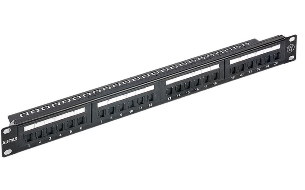 Astrotek 24 Ports UTP Patch Panel CAT6 RJ45 for 19' 1RU Rack Mount Data Network Cabinet Server PCB Type 110/Krone 3U' Black LS