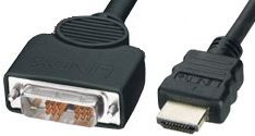 Hypertec HDMI Male to DVI-D Male Connect Between HDMI, DVI,2M