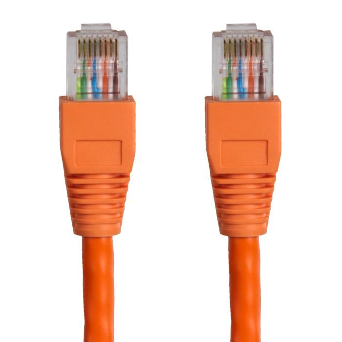 Hypertec 1m CAT6 RJ45 LAN Ethernet Network Orange Patch Lead