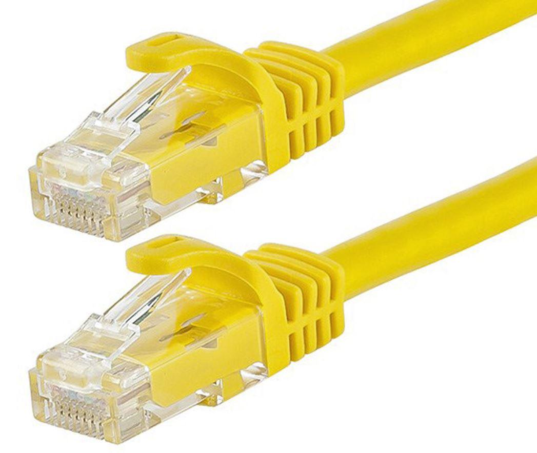 Cabac 0.5m CAT6 RJ45 LAN Ethernet Network Yellow Patch Lead LS