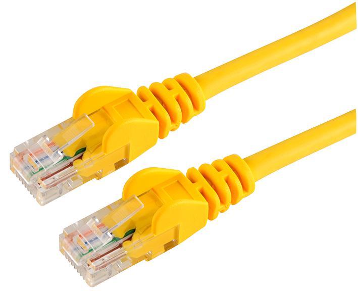 Hypertec 50cm CAT5 RJ45 LAN Ethenet Network Yellow Patch Lead