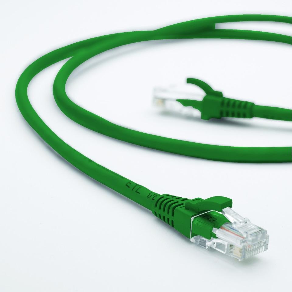 Hypertec 0.5m CAT5 RJ45 LAN Ethenet Network Green Patch Lead (LS)