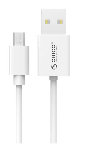 ORICO Micro-B USB2.0 Cable 1M with Reversible Design, Integrated Max Power Technology for Android Devices