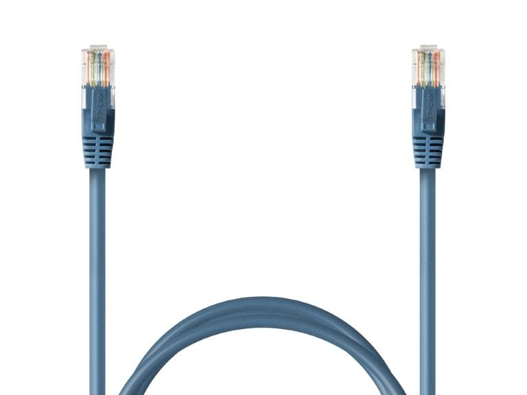 TP-Link TL-EC515EM CAT5e Ethernet Networking Cable 15m - Blue Colour UL certified Copper Snagless Design Soft Flex Tab Gold-Plated Connector