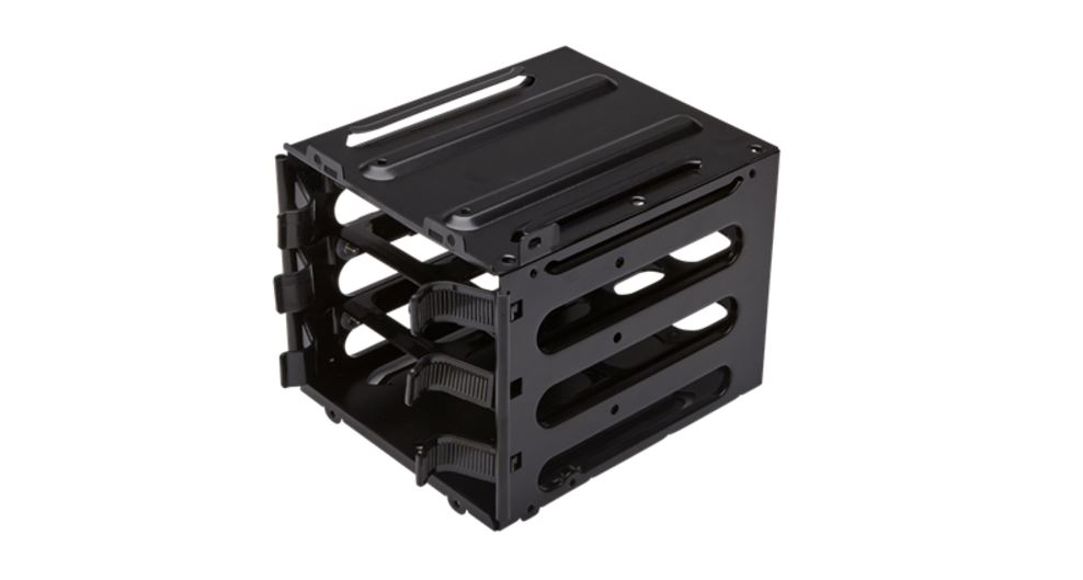 Corsair HDD upgrade kit with 3x hard drive trays and secondary hard drive cage parts