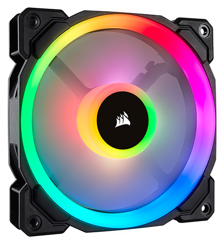 Corsair Light Loop Series,  LL140 RGB, 140mm Dual Light Loop RGB LED PWM Fan, Single Pack