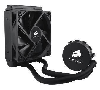 Corsair H55 120mm Liquid CPU Cooler Skylake Compatible 1x12CM Fan, Intel LGA: 1200, 1155, 115X, 1366, 2011, 2011-3, 2066, AMD: AM2, AM3, FM1, (LS)
