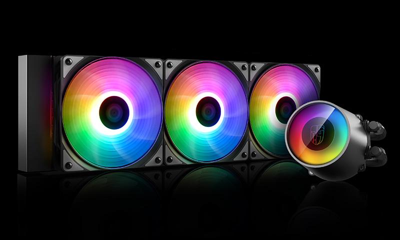 Deepcool CASTLE 360 RGB V2 CPU Liquid Cooler Intel LGA2066/2011-v3/2011/1151/1150/1155/1200/1366 AMD TRX4 TR4 AM4 AM3+ AM3 AM2+ FM2+ FM1