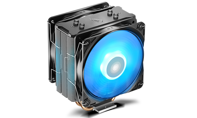 Deepcool GAMMAXX 400 PRO CPU Cooler 4 Heatpipes, 120mm PWM LED Fan, 2 Fans Intel LGA1200/1151/1150/1155/1366 AMD AM4 AM3+ AM3 AM2+ AM2 FM2+ FM2 FM1