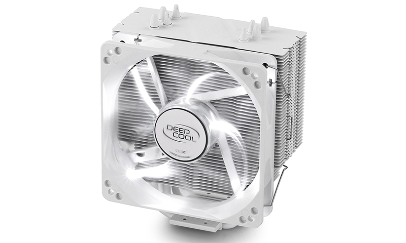 Deepcool Gammaxx 400 White CPU Cooler 4 Heatpipes, 120mm PWM LED Fan Intel LGA20XX/1366/115X/1200/775 AMD AM4 FM2 FM1 AM3+ AM3 AM2+ AM2 K8