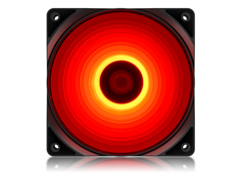 Deepcool RF120R High Brightness Case Fan With Built-in Red LED (DP-FLED-RF120-RD)