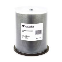 Verbatim CD-R 700MB 100Pk White Thermal 52x (LS)