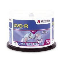 Verbatim DVD-R 4.7GB 50pk Spindle 16x
