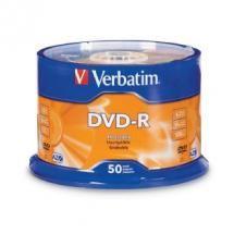 Verbatim DVD-R4.7GB 16x 50Pk White Wide Thermal (Gloss), Spindle