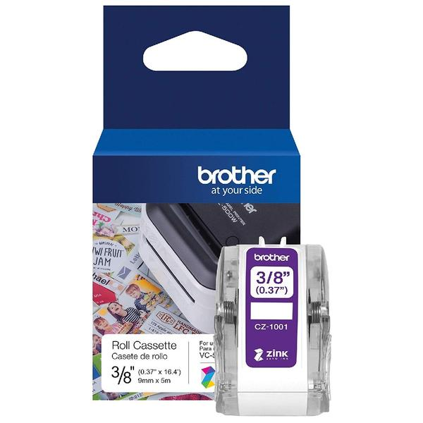 Brother CZ-1001 Full Colour continuous label roll, 9mm wide to Suit VC-500W