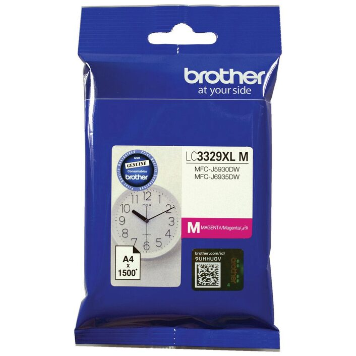 Brother LC3329XLM  MAGENTA INK CARTRIDGE TO SUIT MFC-J5930DW/J6935DW - UP TO 1500 PAGES