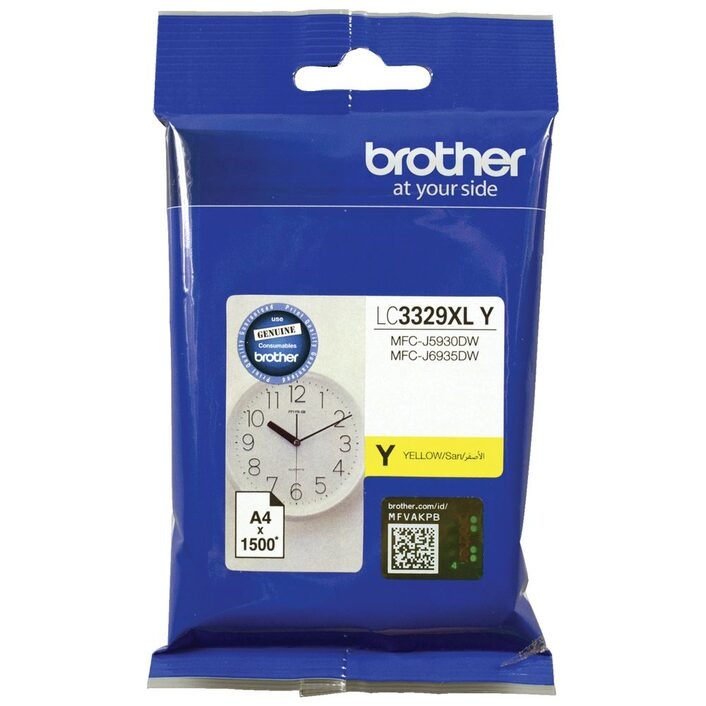 Brother LC3329XLY YELLOW  INK CARTRIDGE TO SUIT MFC-J5930DW/J6935DW - UP TO 1500 PAGES