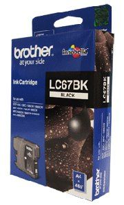 Brother LC-67BK Black Ink Cartridge- DCP-385C/395CN/585CW/6690CW/J715W, MFC-490CW/5490CN/5890CN/6490CW/6890CDW/790CW/795CW/990CW- up to 450 pa
