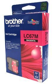 Brother LC-67M Megenta Ink Cartridge- to suit DCP-385C/395CN/585CW/6690CW/J715W, MFC-490CW/5490CN/5890CN/6490CW/6890CDW/790CW/795CW/990CW- up to 325 p