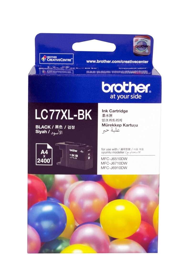 Brother LC-77XLBK Black Super High Yield Ink Cartridge- MFC-J6510DW/J6710DW/J6910DW/J5910DW - up to 2400 pages