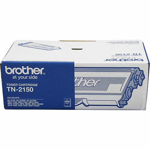 Brother TN-2150 Brother TN-2150 Mono Laser Toner - High Yield, HL-2140/2142/2150N/2170W, DCP-7040, MFC-7340/7440N/7840W- up to 2600 p