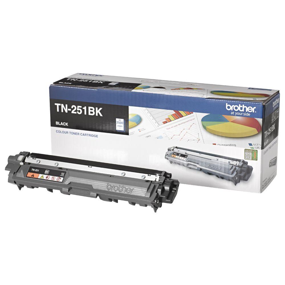 Brother TN-251BK Colour Laser Toner-Black-HL-3150CDN/3170CDW/MFC-9140CDN/9330CDW/9335CDW/9340CDW /DCP-9015CDW (2,500 Pages)