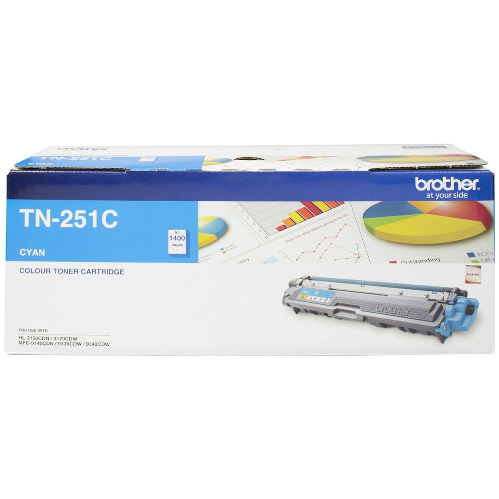 Brother TN-251C Colour Laser Toner- Cyan, HL-3150CDN/3170CDW/MFC-9140CDN/9330CDW/9335CDW/9340CDW /DCP-9015CDW(1,400 Pages)