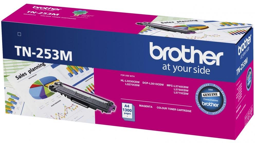 Brother TN-253M Magenta Toner Cartridge to Suit -  HL-3230CDW/3270CDW/DCP-L3015CDW/MFC-L3745CDW/L3750CDW/L3770CDW (1,300 Pages)
