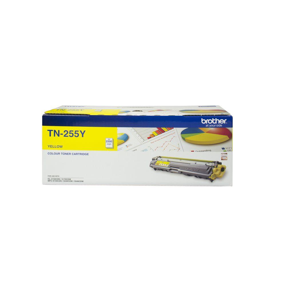 Brother TN-255Y Colour Laser Toner- Yellow High Yield Cartridge- HL-3150CDN/3170CDW/MFC-9140CDN/9330CDW/9335CDW/9340CDW /DCP-9015CDW(2,200 Pa