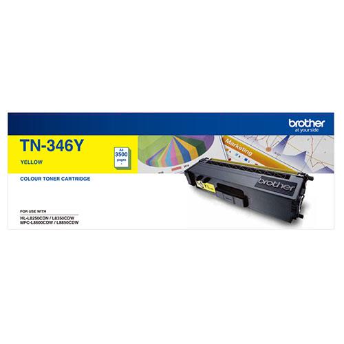 Brother TN-346Y Colour Laser Toner- High Yield Yellow- HL-L8250CDN/8350CDW MFC-L8600CDW/L8850CDW - 3500Pages