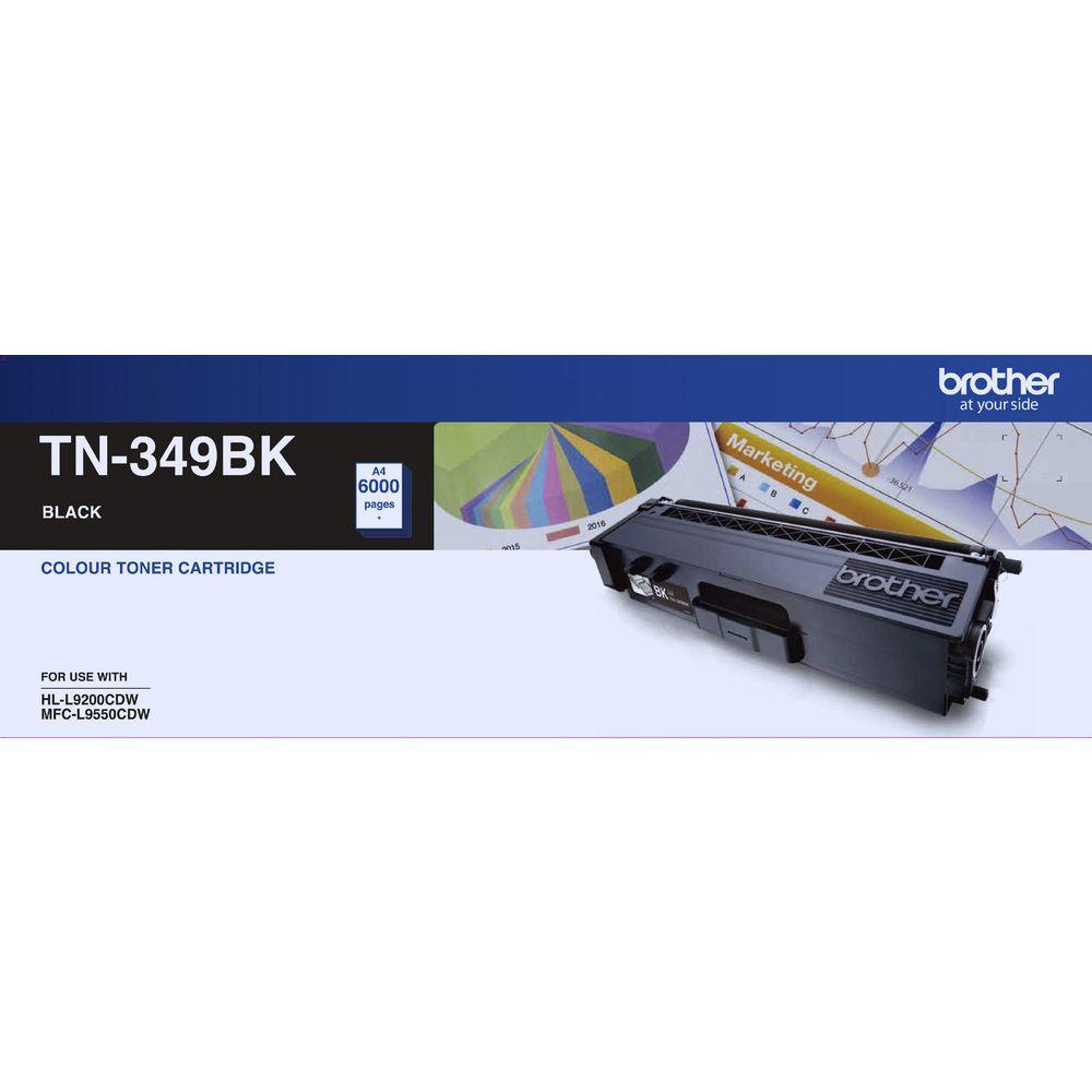 Brother TN-349BK Super High Yield Black Toner- HL-L9200CDW MFC-L9550CDW - 6000Pages