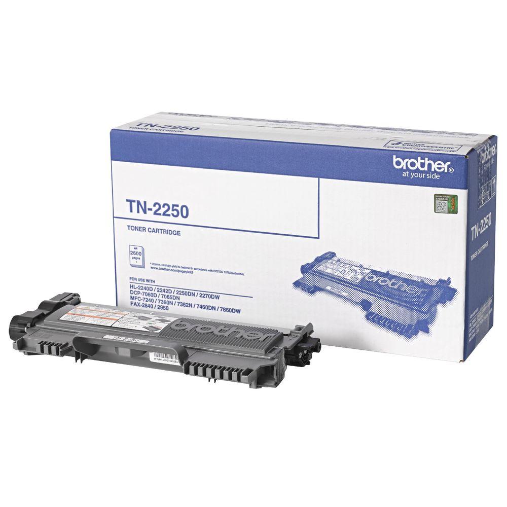 Brother TN-2250 Mono Laser- High Yield, HL-2240D/2242D/2250DN/2270DW, DCP-7060D/7065DN, MFC-7360N/7362N/7460DN/7860DW/7240,  FAX-2950/2840 - 2600 p