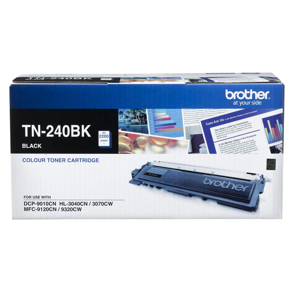 Brother TN-240BK Colour Laser Toner- Black, HL-3040CN/3045CN/3070CW/3075CW, DCP-9010CN, MFC-9120CN/9125CN/9320CW/9325CW - 2200 Pages