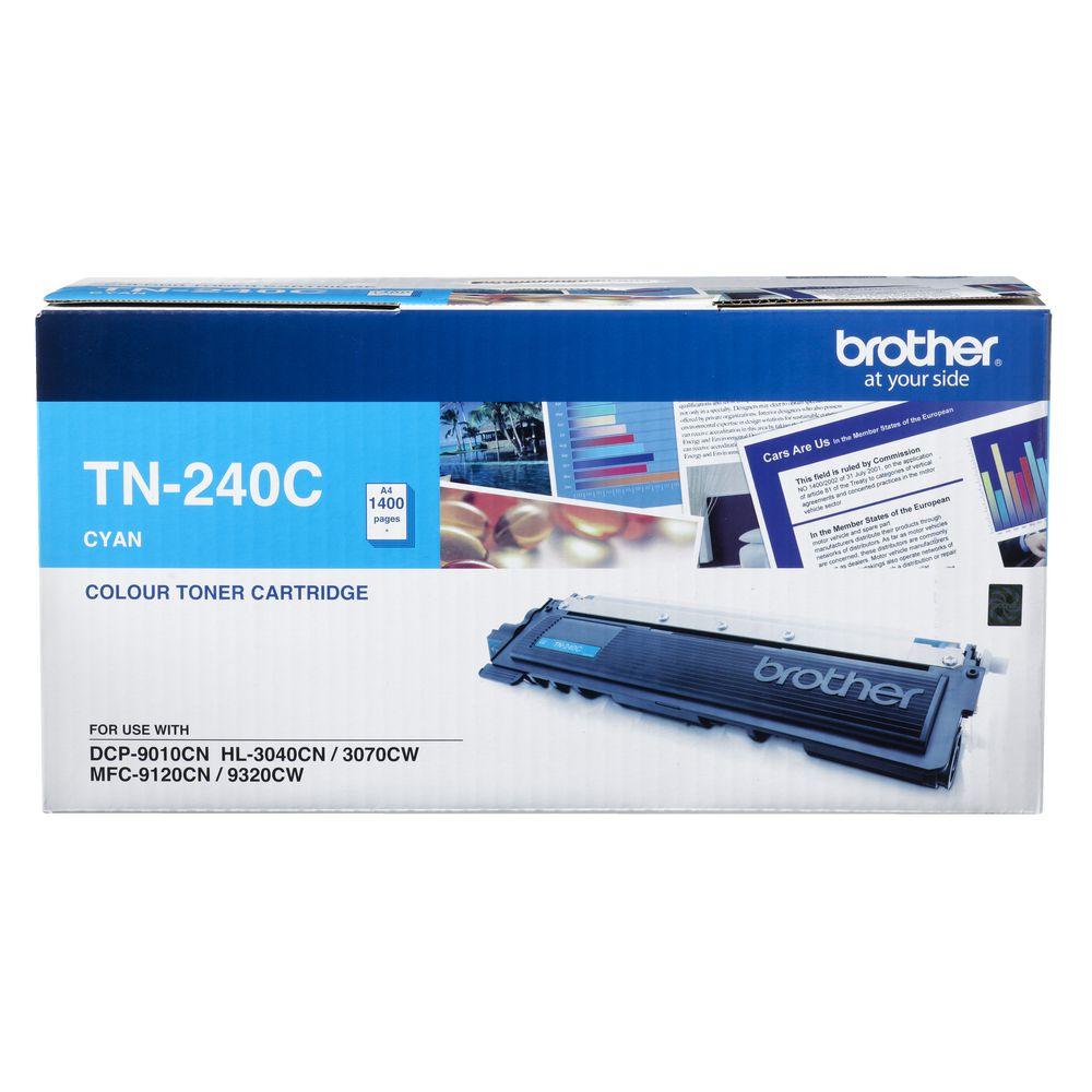 Brother TN-240C Colour Laser Toner - Cyan, HL-3040CN/3045CN/3070CW/3075CW, DCP-9010CN, MFC-9120CN/9125CN/9320CW/9325CW - up to 1400 p