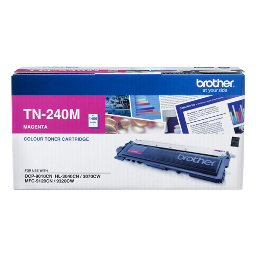 Brother TN-240M Colour Laser Toner- Magenta, HL-3040CN/3045CN/3070CW/3075CW, DCP-9010CN, MFC-9120CN/9125CN/9320CW/9325CW - up to 1400 p