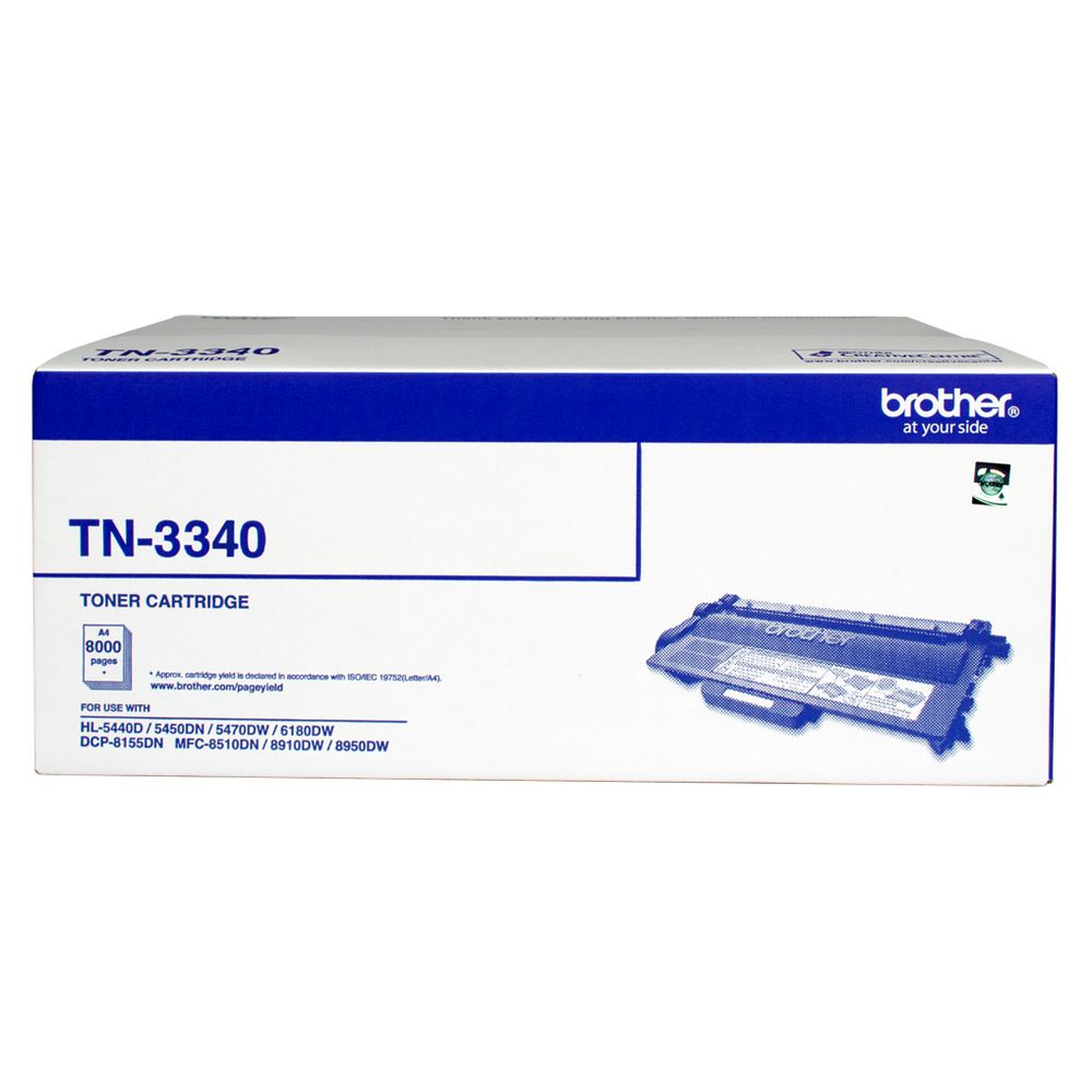 Brother TN-3340 Mono Laser toner - High yield - HL-5440D/5450DN/5470DW/6180DW  MFC-8510DN/8910DW/8950DW  DCP-8155DN-  up to 8000 pages