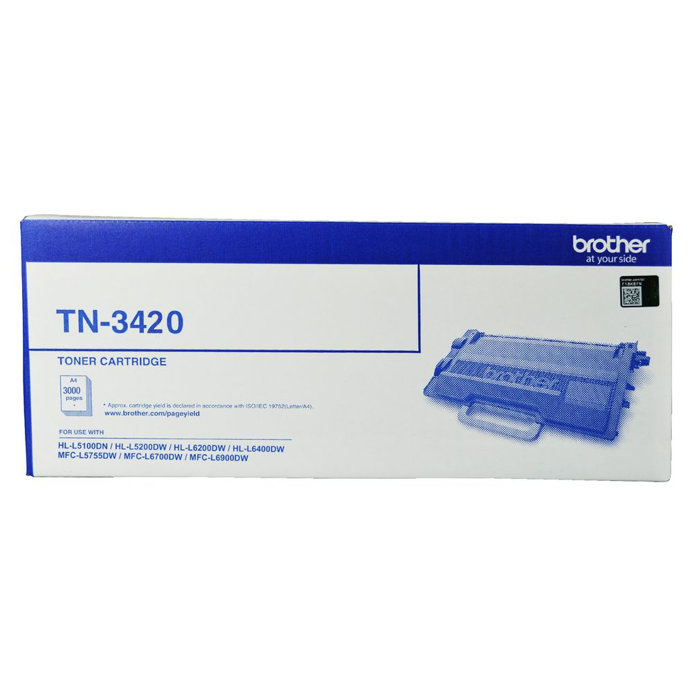 Brother TN-3420 Mono Laser Toner - High Yield to suit HL-L5100DN, L5200DW, L6200DW, L6400DW & MFC-L5755DW , L6700DW, L6900DWup to 3000 pages