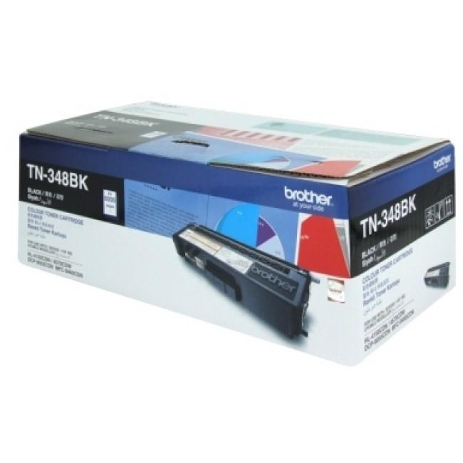 Brother TN-348BK Colour Laser toner - Super High Yield Black-HL- 4150CDN/4570CDW, DCP-9055CDN, MFC-9460CDN/9970CDW - 6000 pages
