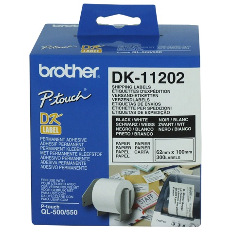 White Shipping/Name Badge Labe 62mmX100mm,300 labels per roll