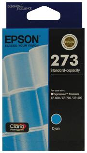 Epson 273 Std Cap Photo Cyan For XP-600, XP-700, XP-800