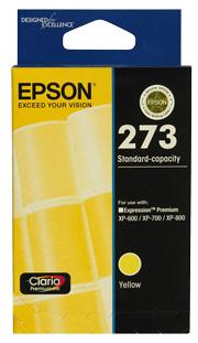Epson 273 Std Capacity Yellow For XP-600, XP-700, XP-800