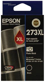 Epson 273XL High Cap Photo Blk For XP-600, XP-700, XP-800