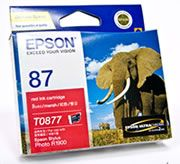 Epson T087 RedInk Cart Suits R1900