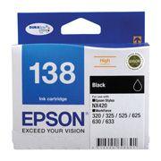 Epson 138 HighCap Black Ink Suits NX420,320,325,525,625
