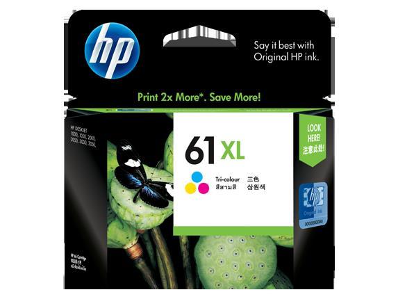 HP No 61XL TriColour Ink Cart High Yield Cyan/Magenta/Yellow