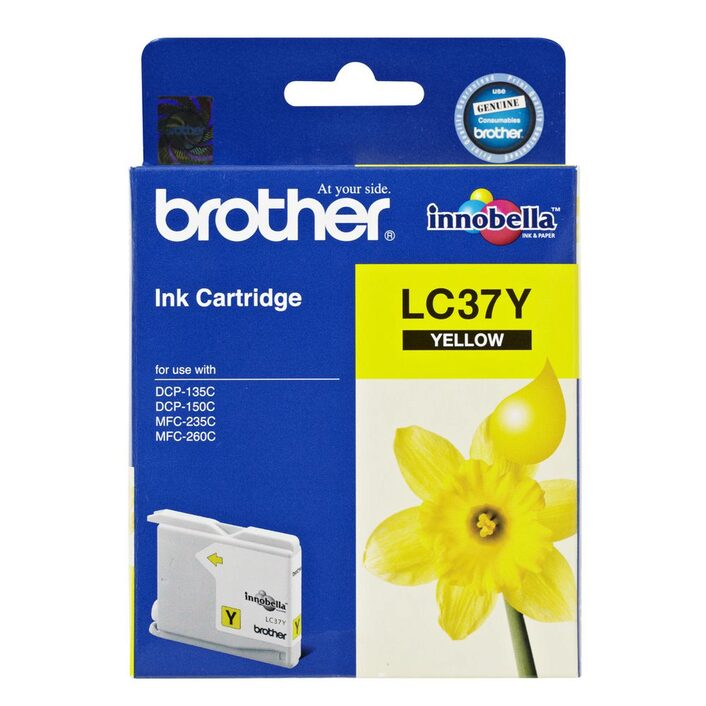 Brother LC-37Y Yellow Ink Cartridge- to suit DCP-135C/150C, MFC-260C/ 260C SE- up to 300 pages