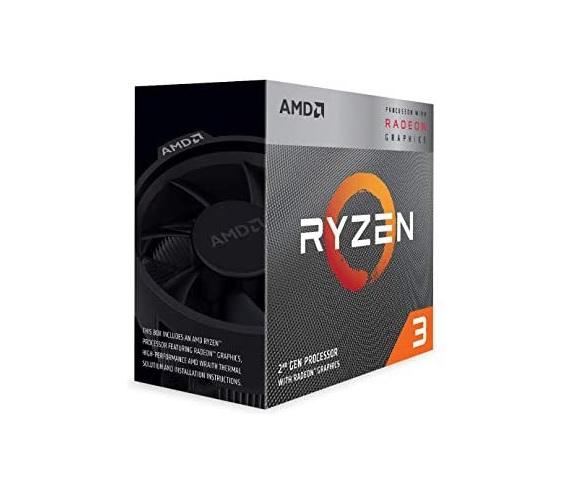 AMD Ryzen 3 3200G, 4 Core AM4 CPU, 3.6GHz 4MB 65W w/Wraith Stealth Cooler Fan RX Vega Graphics Box
