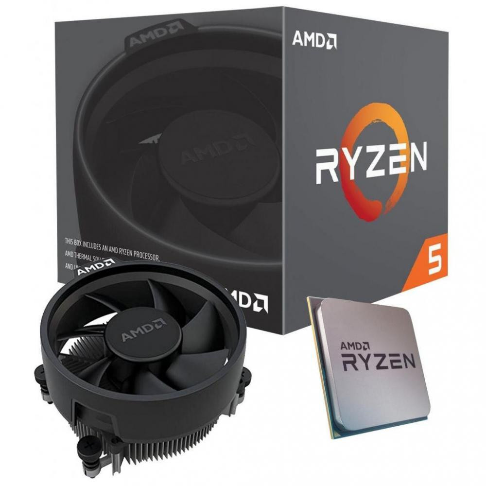 AMD Ryzen 5 3400G, 4 Core AM4 CPU, 3.7GHz 4MB 65W w/Wraith Stealth Cooler Fan RX Vega Graphics Box