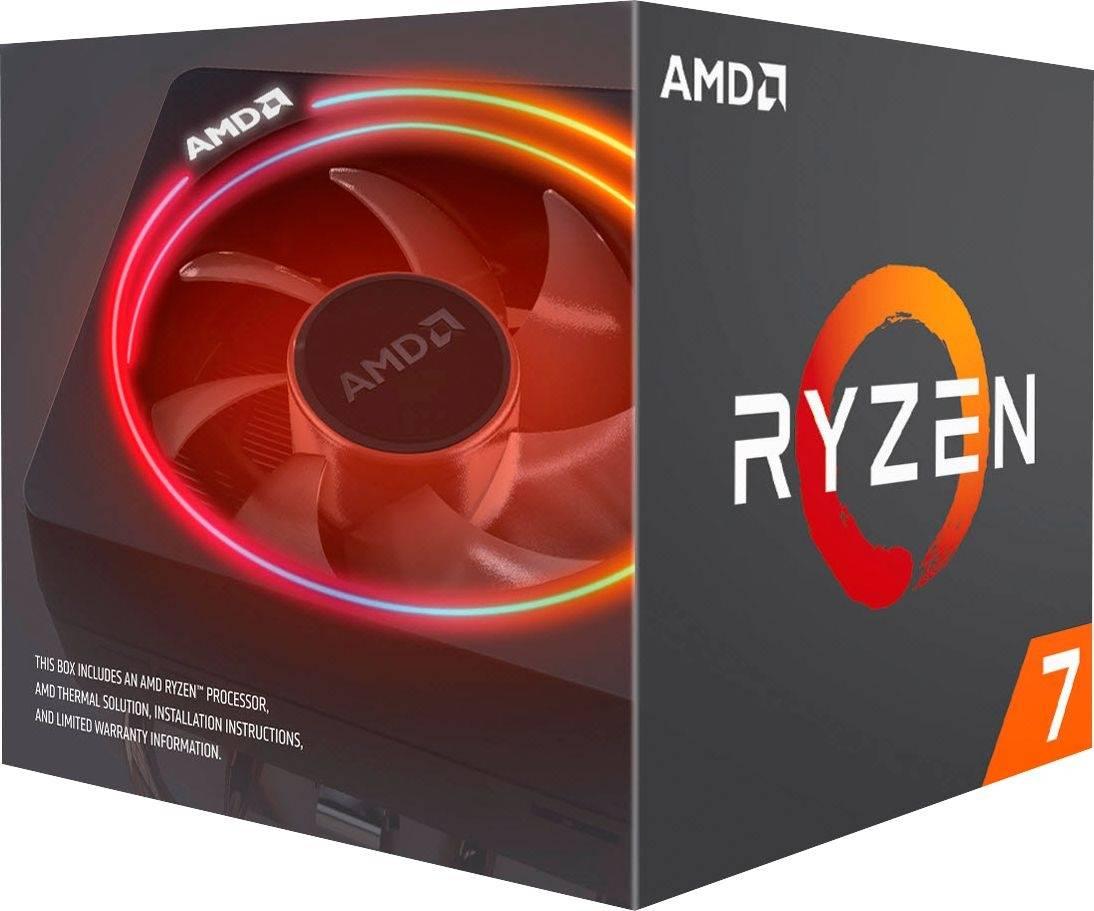 AMD Ryzen 7 3700X, 8 Core AM4 CPU, 3.6GHz 4MB 65W w/Wraith Prism Cooler Fan